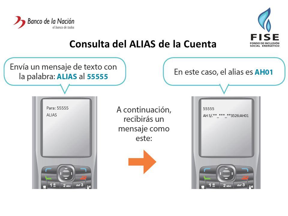 Consulta del ALIAS de la Cuenta