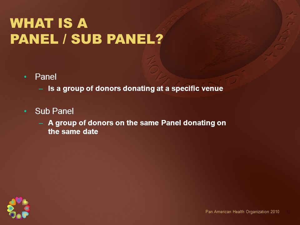 WHAT IS A PANEL / SUB PANEL