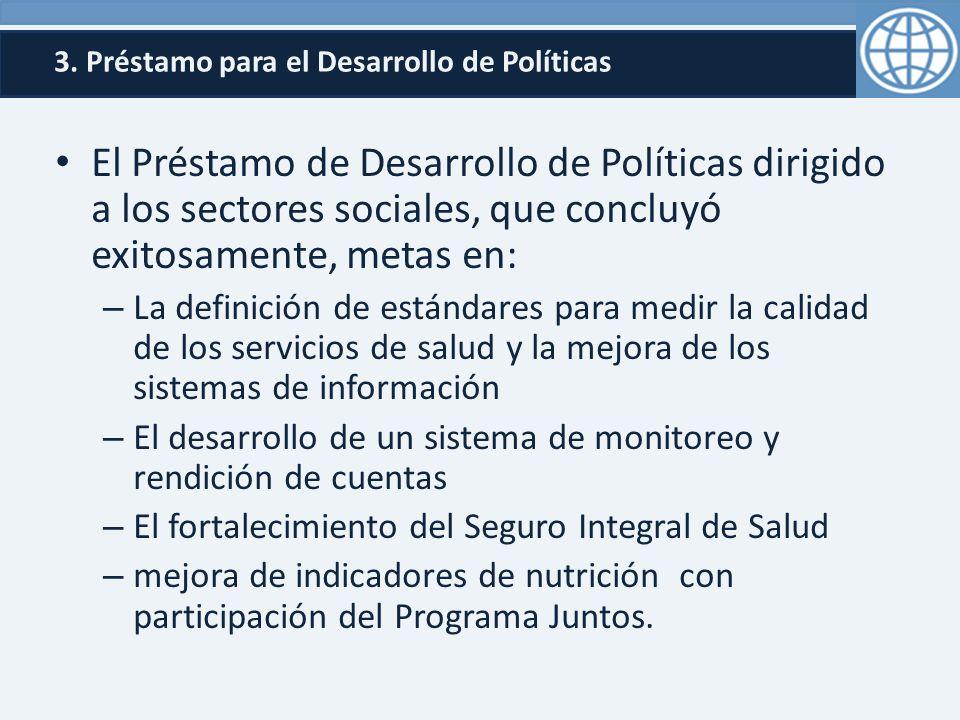 3. Préstamo para el Desarrollo de Políticas