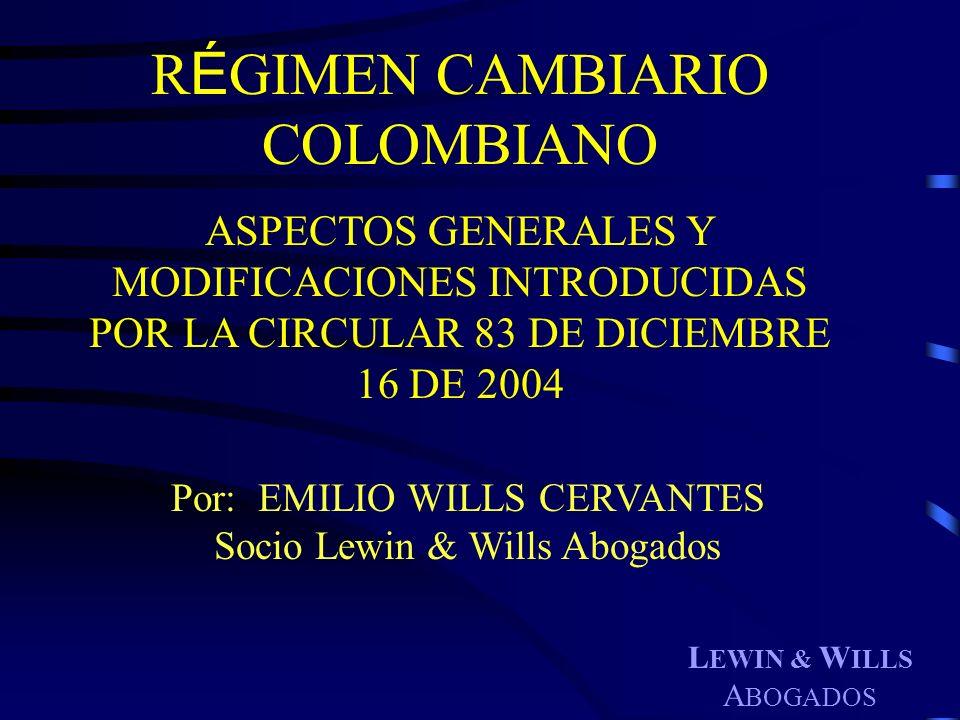 RÉGIMEN CAMBIARIO COLOMBIANO