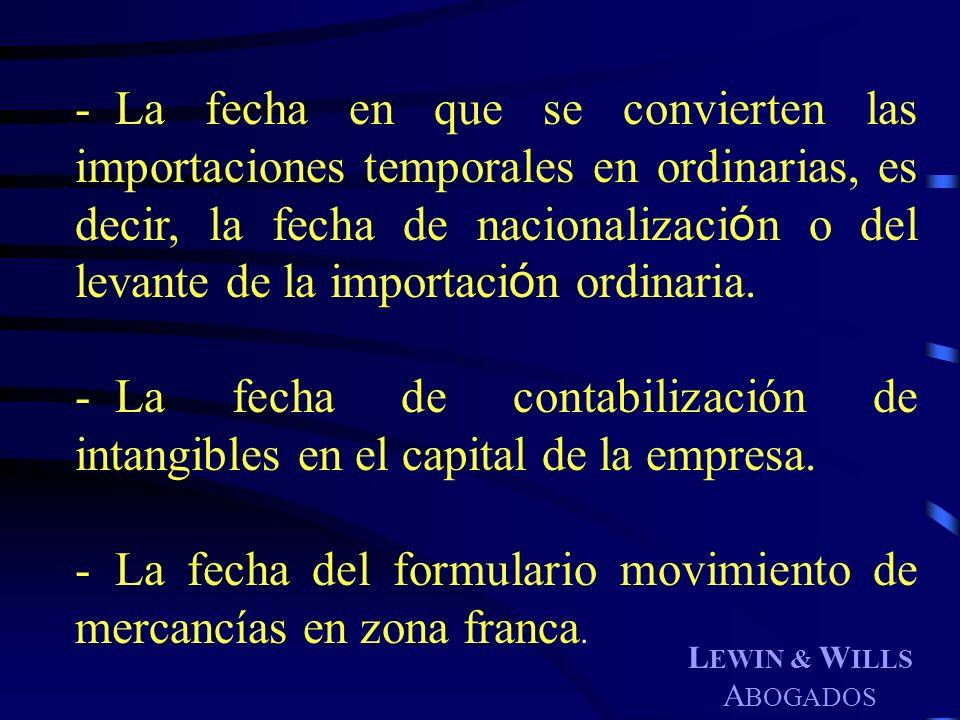 La fecha del formulario movimiento de mercancías en zona franca.