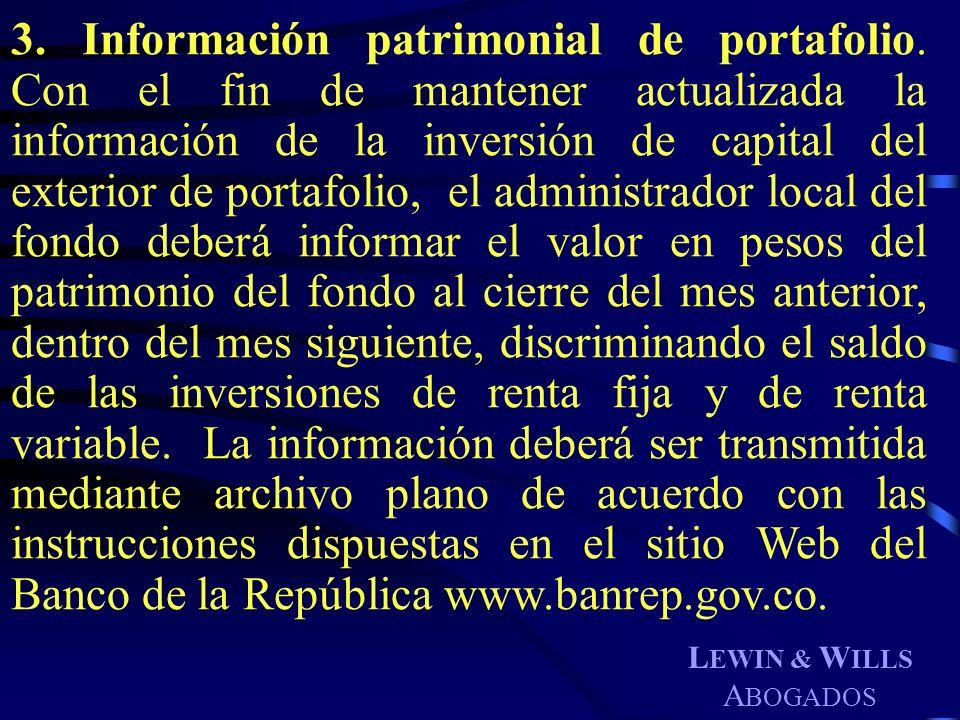 3. Información patrimonial de portafolio