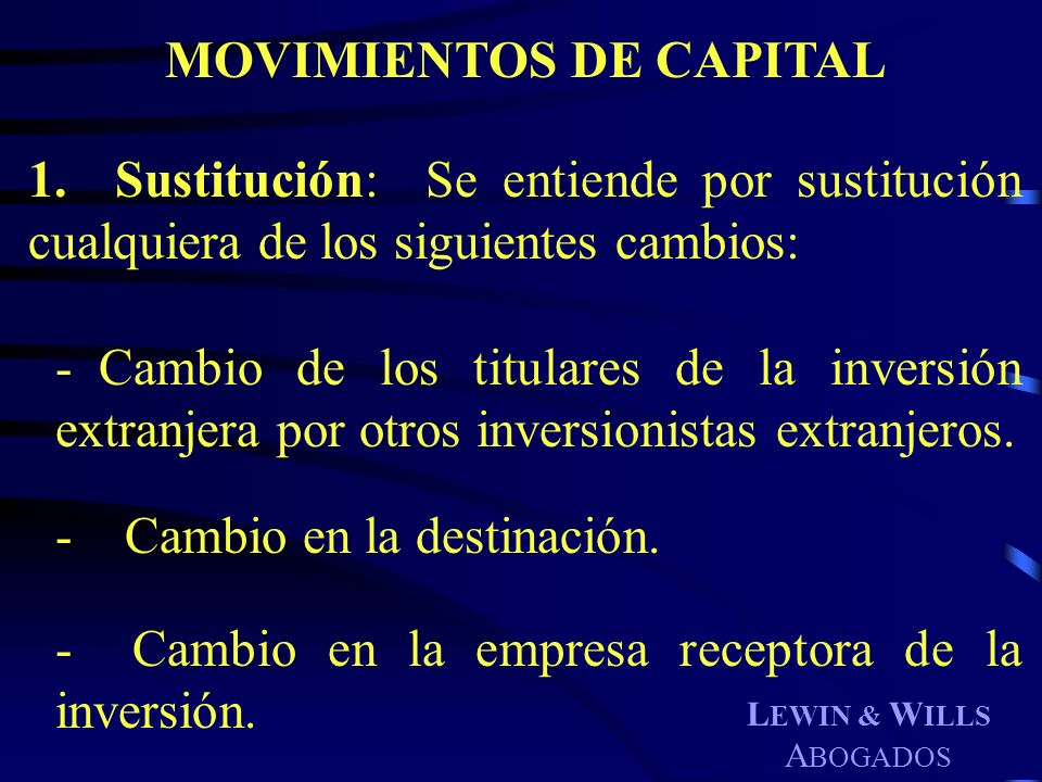 MOVIMIENTOS DE CAPITAL