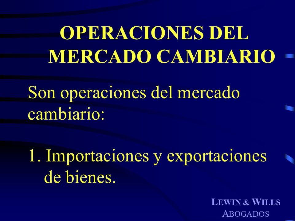 OPERACIONES DEL MERCADO CAMBIARIO