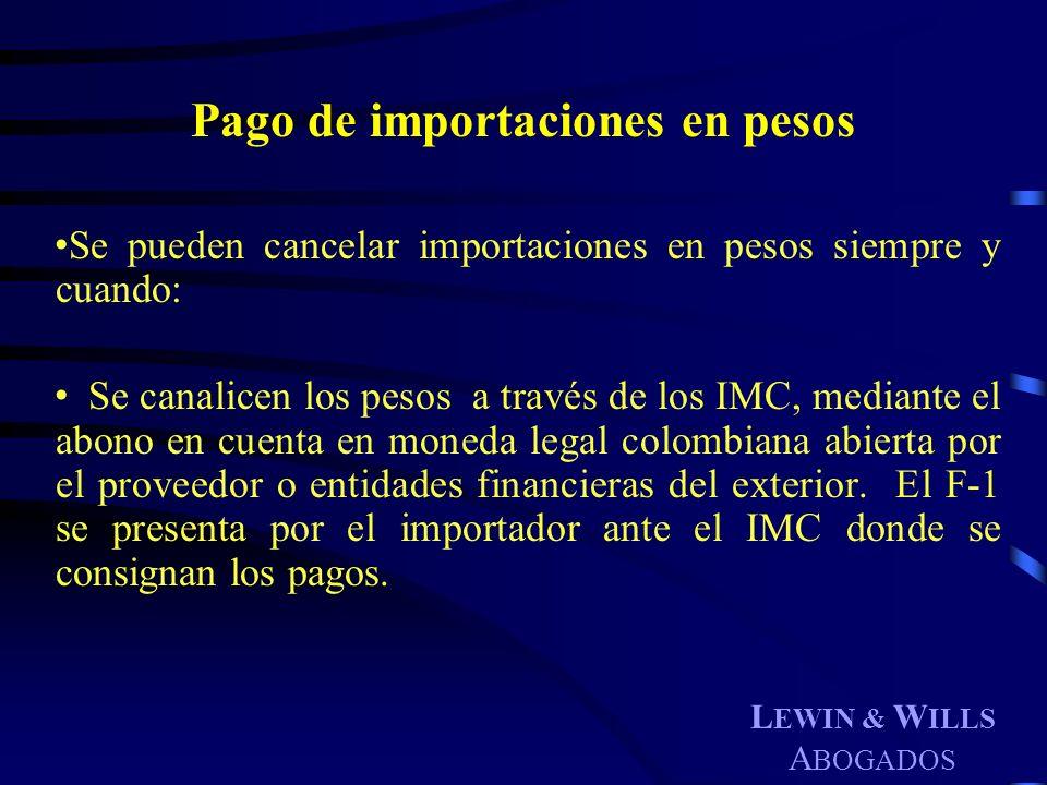 Pago de importaciones en pesos