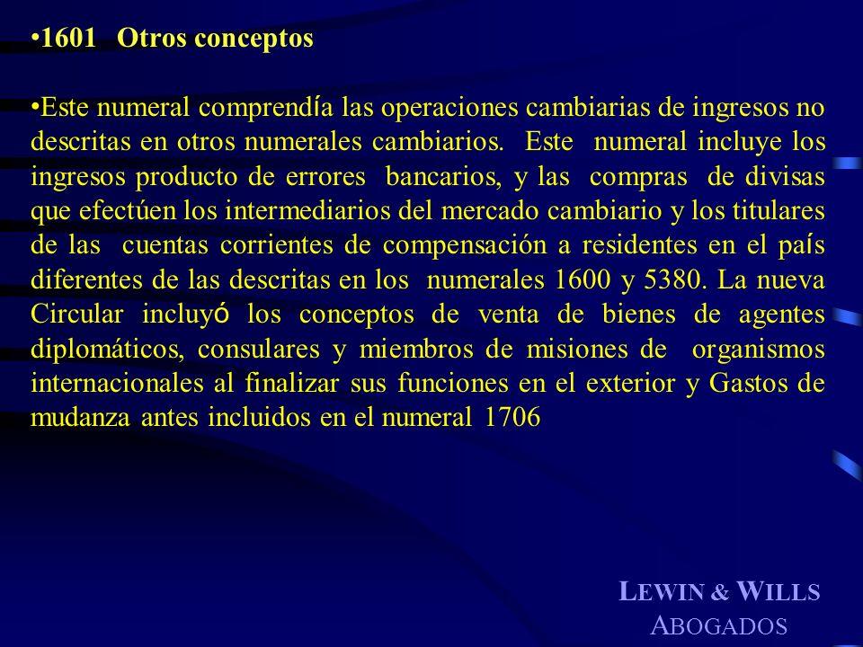 1601 Otros conceptos