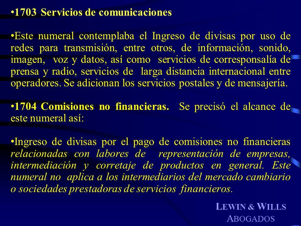 1703 Servicios de comunicaciones