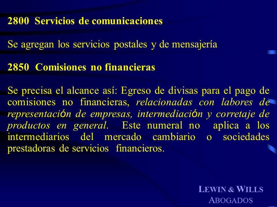 Servicios de comunicaciones