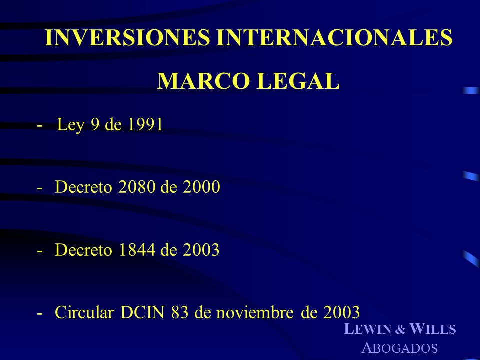 INVERSIONES INTERNACIONALES