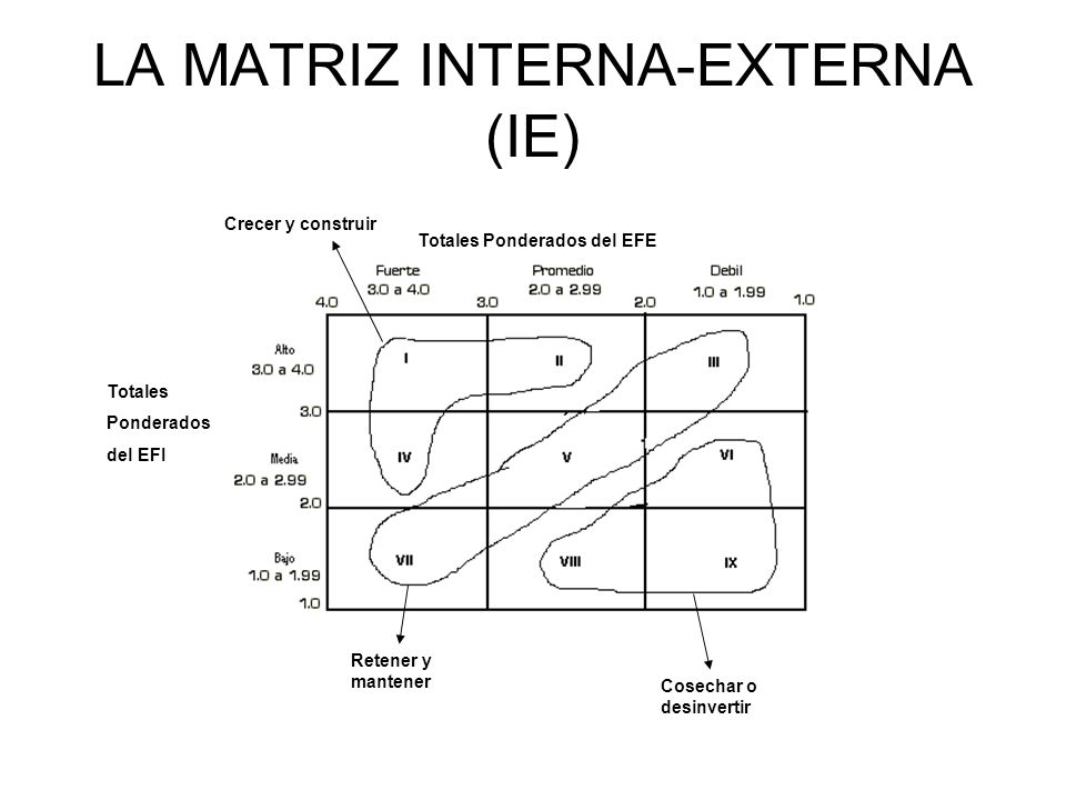 LA MATRIZ INTERNA-EXTERNA (IE)