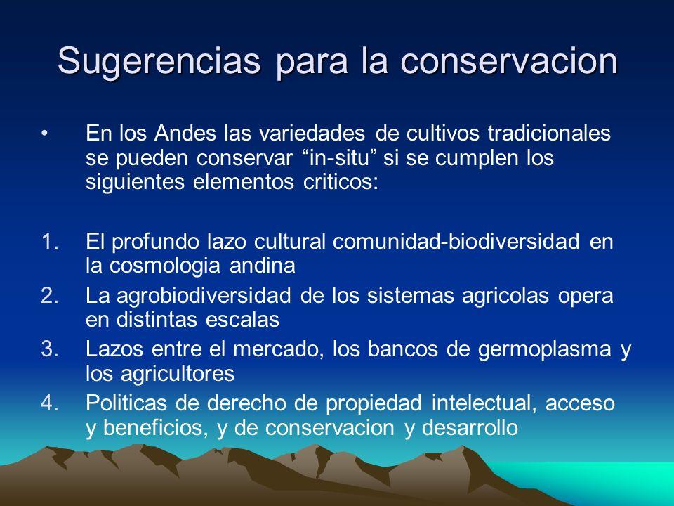 Sugerencias para la conservacion