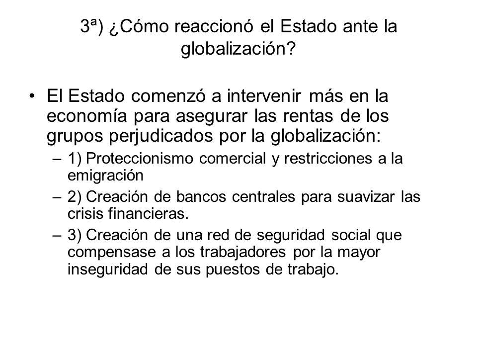 3ª) ¿Cómo reaccionó el Estado ante la globalización