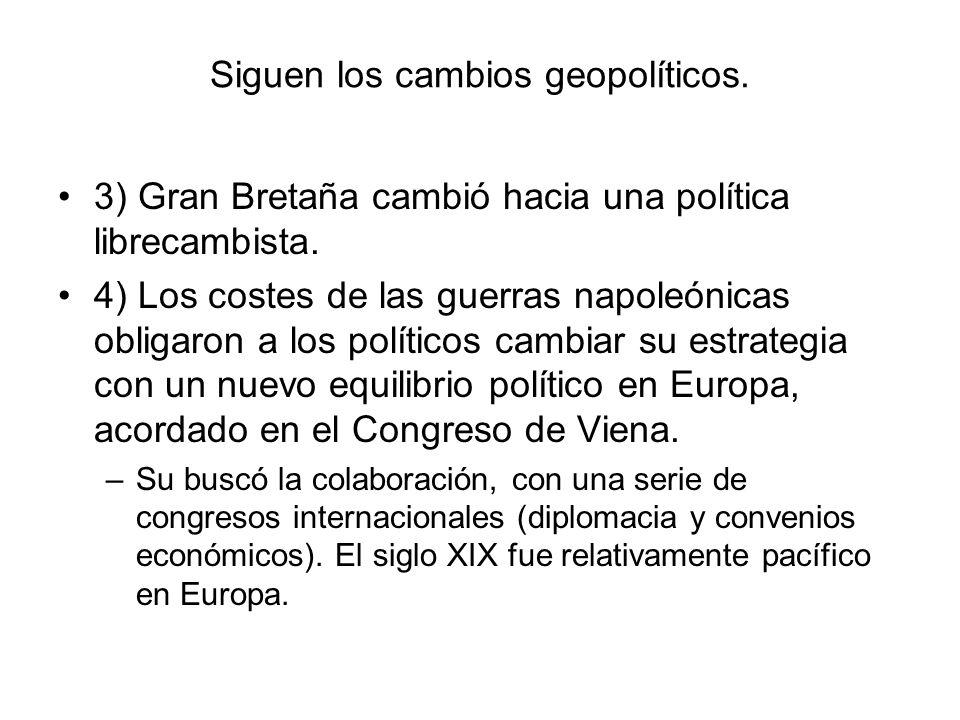 Siguen los cambios geopolíticos.