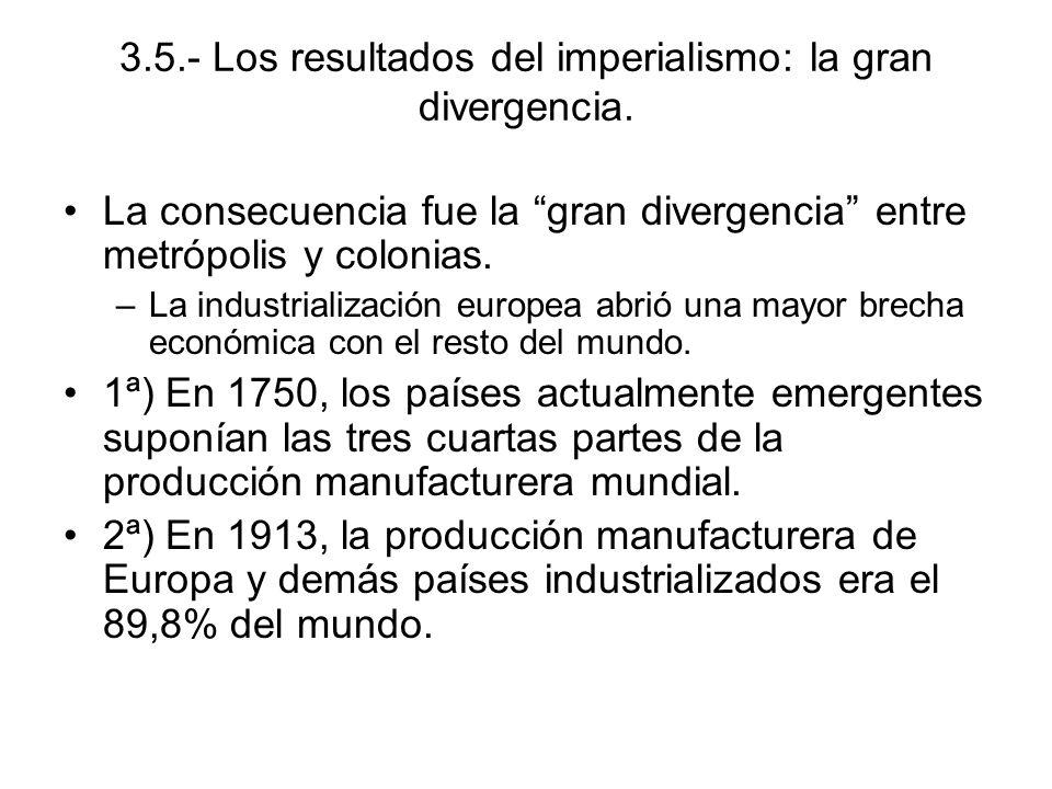 3.5.- Los resultados del imperialismo: la gran divergencia.