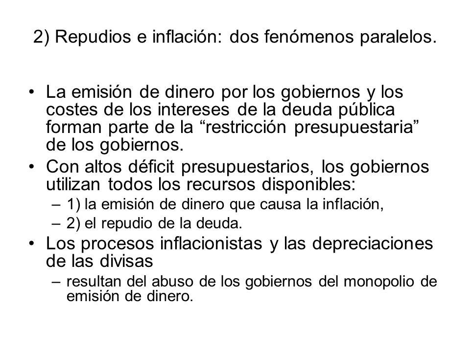 2) Repudios e inflación: dos fenómenos paralelos.