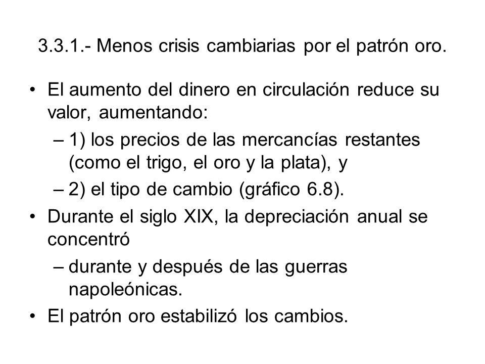 3.3.1.- Menos crisis cambiarias por el patrón oro.
