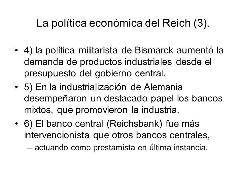 La política económica del Reich (3).