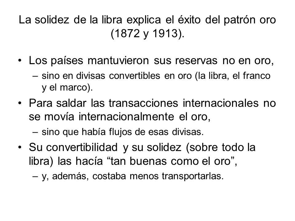 La solidez de la libra explica el éxito del patrón oro (1872 y 1913).