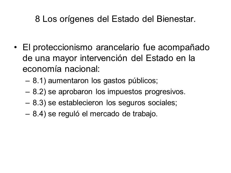 8 Los orígenes del Estado del Bienestar.