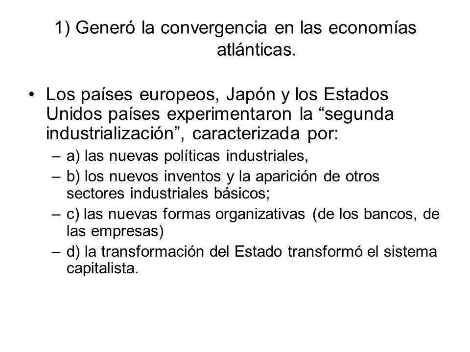 1) Generó la convergencia en las economías atlánticas.