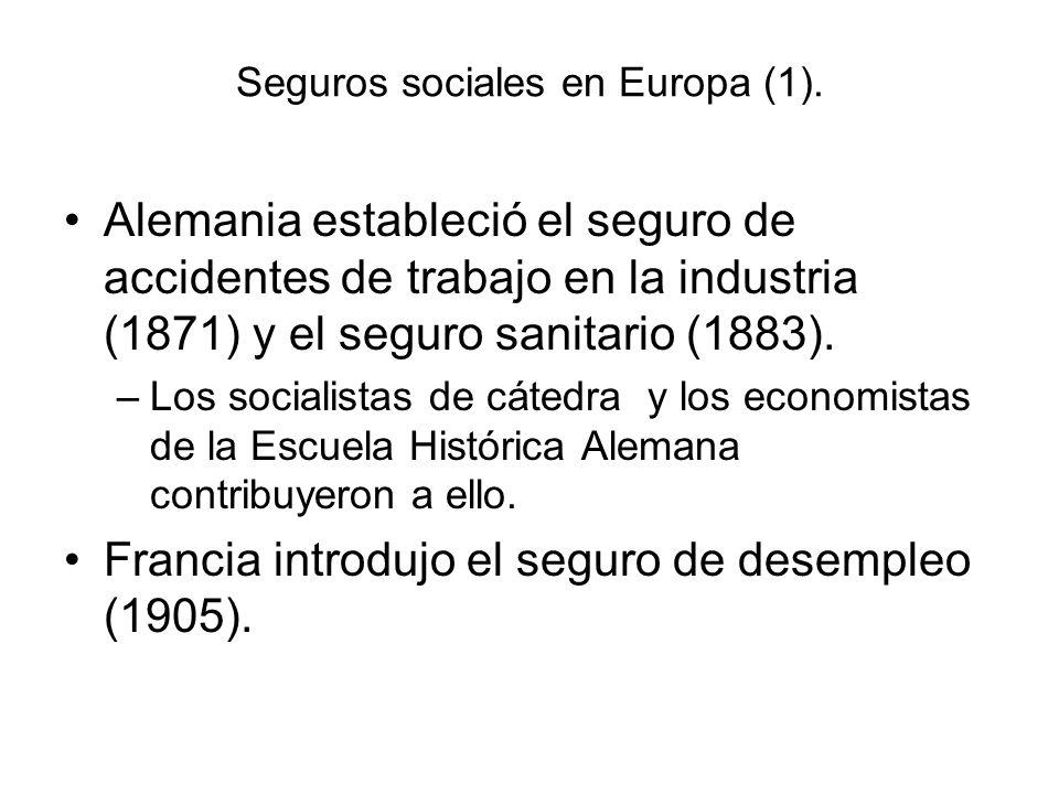 Seguros sociales en Europa (1).
