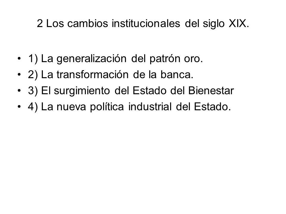 2 Los cambios institucionales del siglo XIX.
