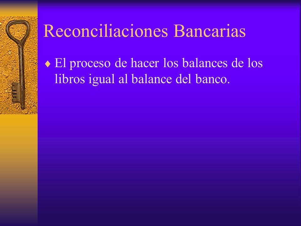 Reconciliaciones Bancarias