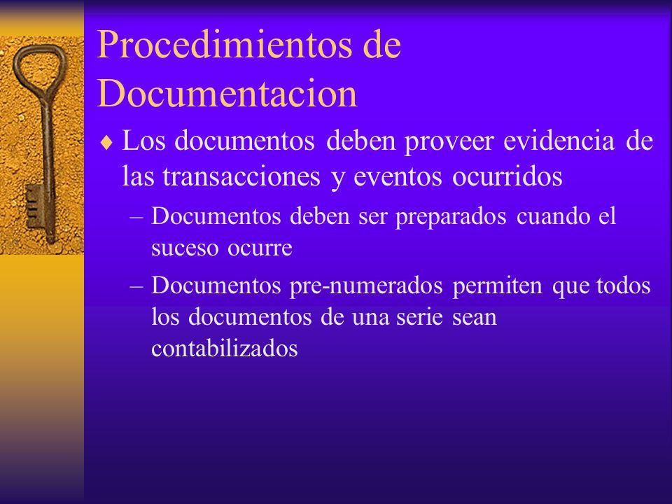 Procedimientos de Documentacion