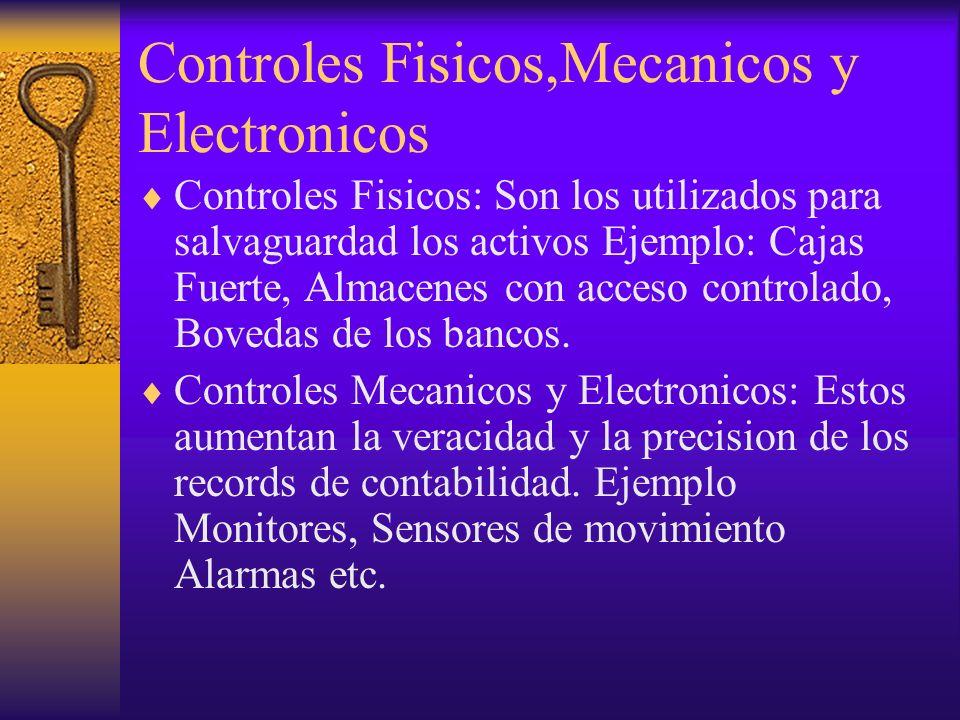 Controles Fisicos,Mecanicos y Electronicos