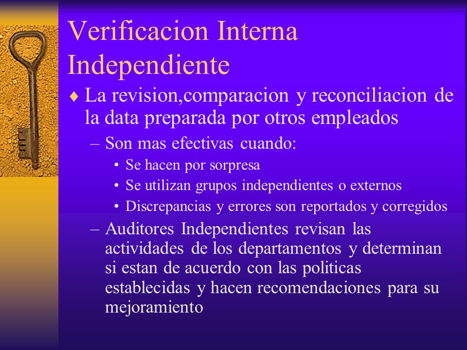 Verificacion Interna Independiente