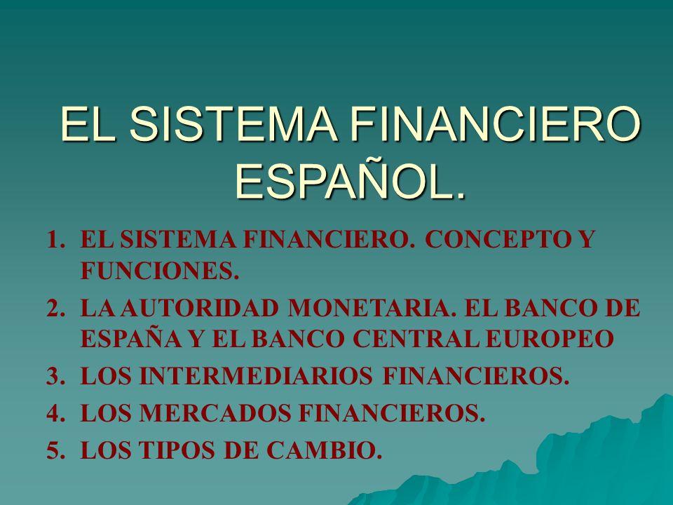 EL SISTEMA FINANCIERO ESPAÑOL.