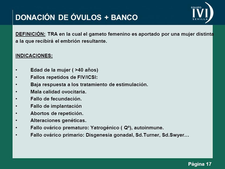 DONACIÓN DE ÓVULOS + BANCO