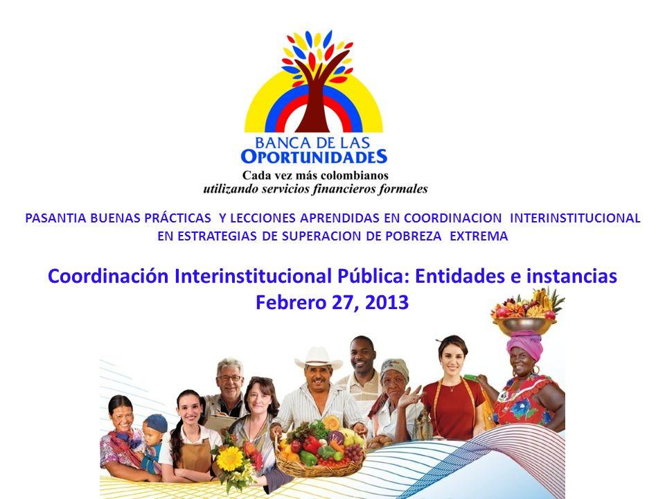 Coordinación Interinstitucional Pública: Entidades e instancias