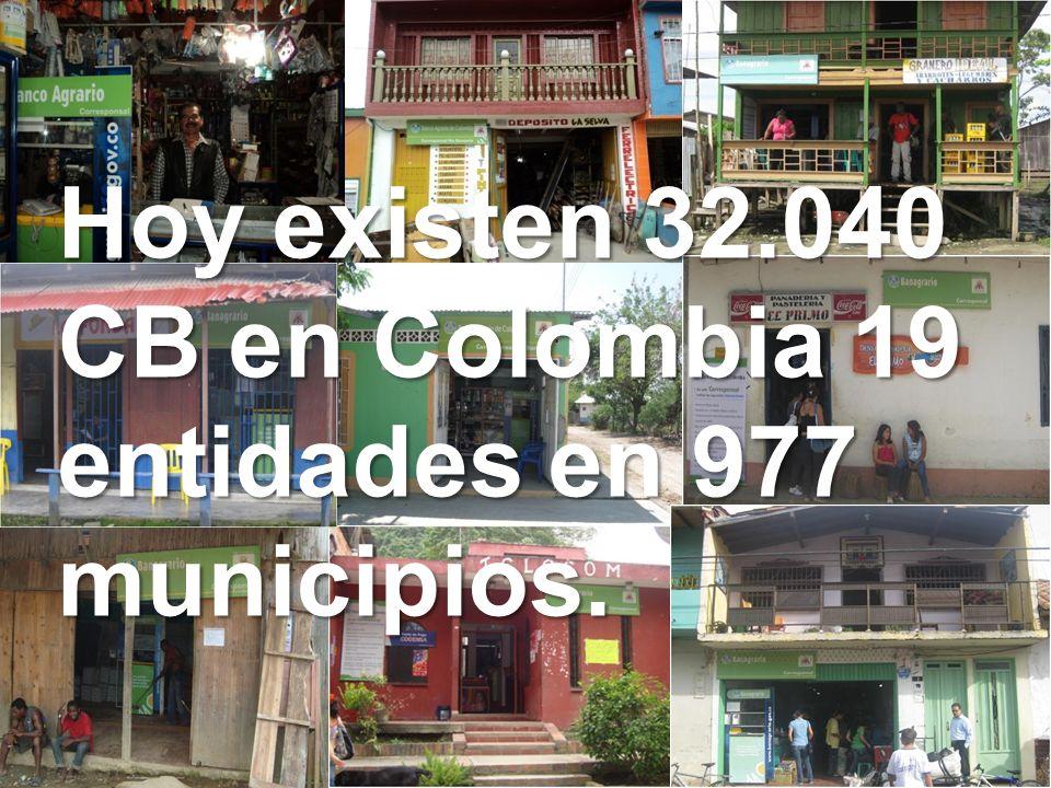 Hoy existen 32.040 CB en Colombia 19 entidades en 977 municipios.