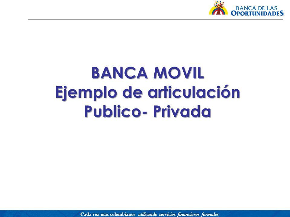 BANCA MOVIL Ejemplo de articulación Publico- Privada