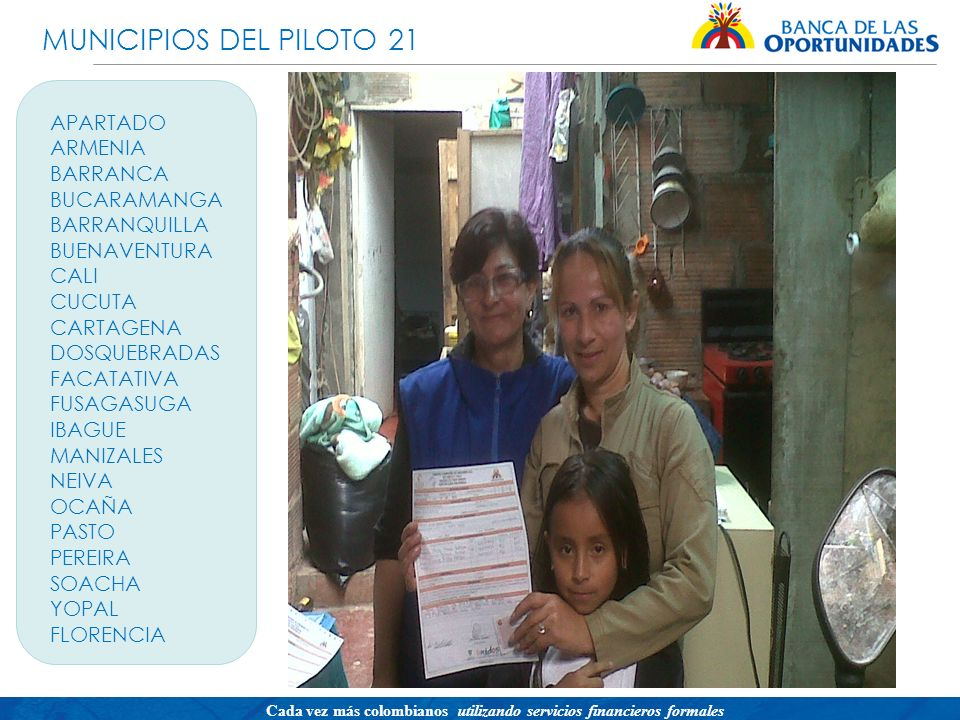 MUNICIPIOS DEL PILOTO 21 APARTADO ARMENIA BARRANCA BUCARAMANGA
