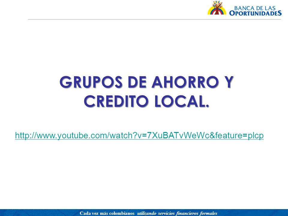 GRUPOS DE AHORRO Y CREDITO LOCAL.