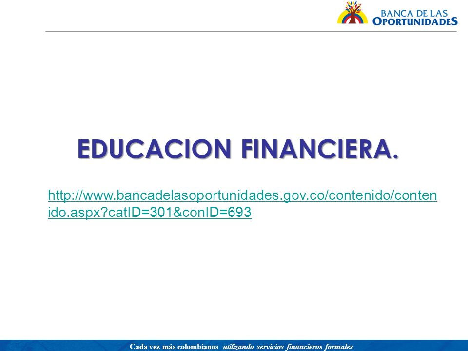 EDUCACION FINANCIERA.