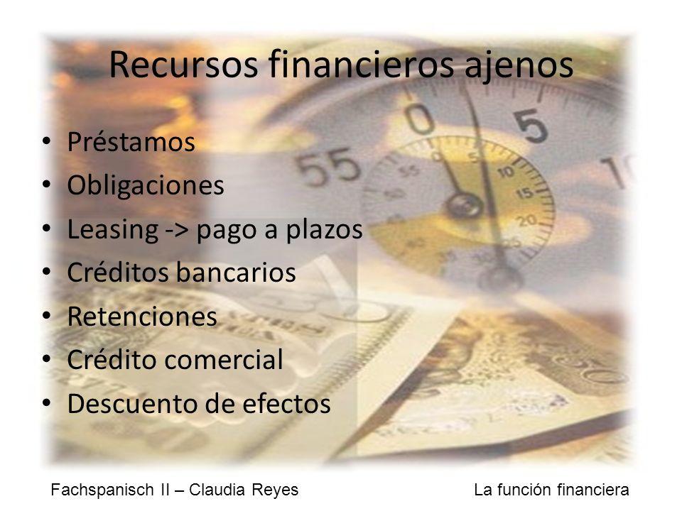 Recursos financieros ajenos
