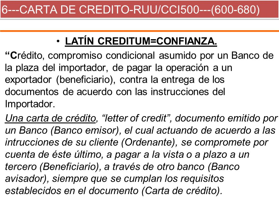 6---CARTA DE CREDITO-RUU/CCI500---(600-680)