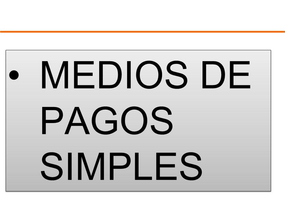 MEDIOS DE PAGOS SIMPLES