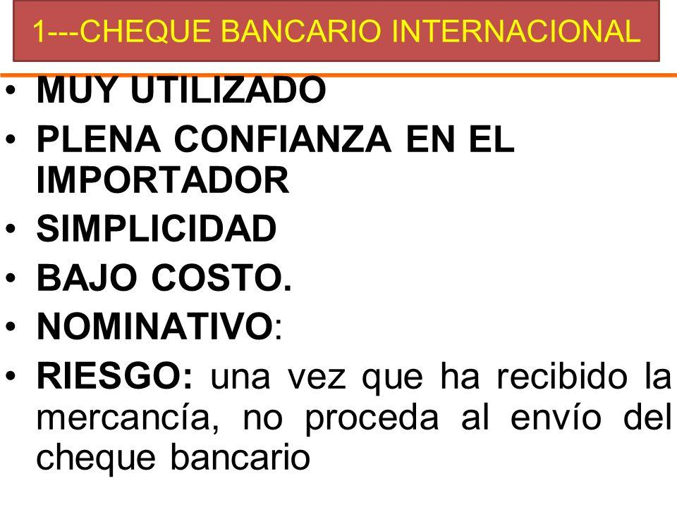 1---CHEQUE BANCARIO INTERNACIONAL