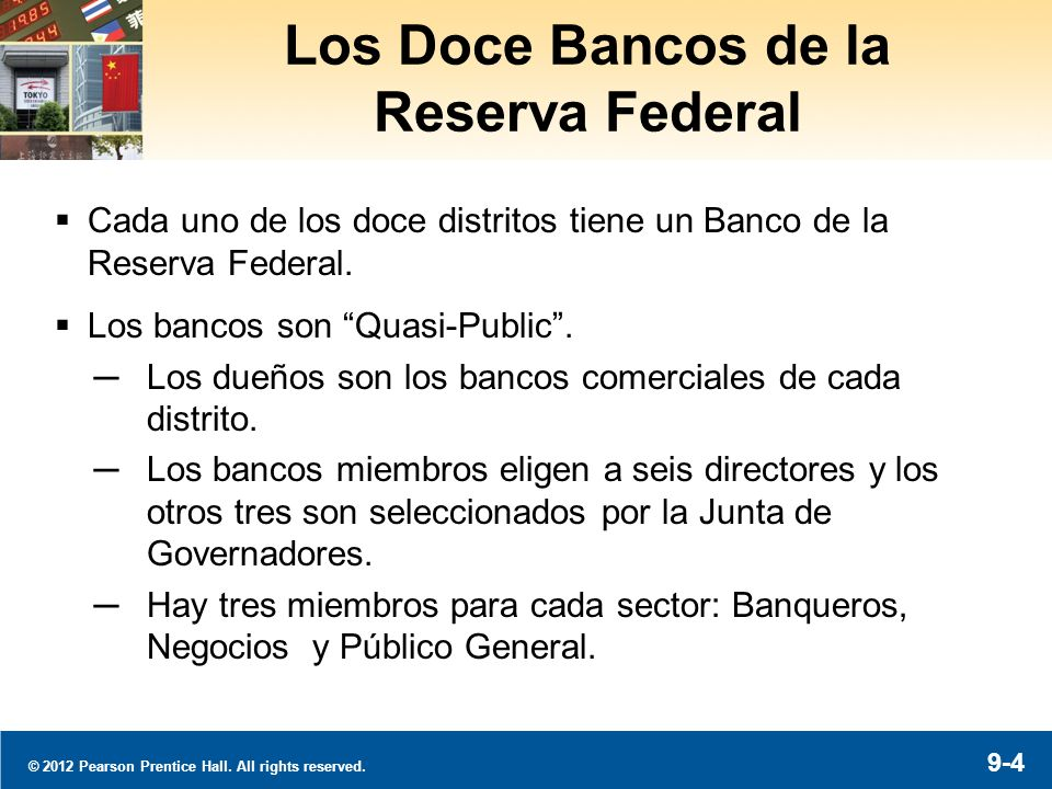 Federal Reserve Banks © 2012 Pearson Prentice Hall. All rights reserved.