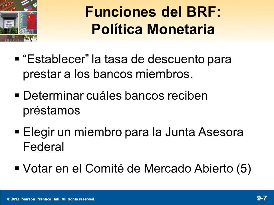 El BRF de New York Supervisa las operaciones de múltiples instituciones financieras.