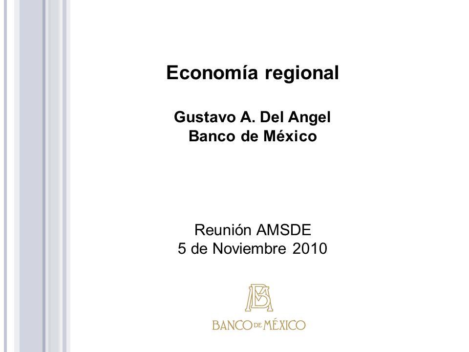 Economía regional Gustavo A. Del Angel Banco de México Reunión AMSDE