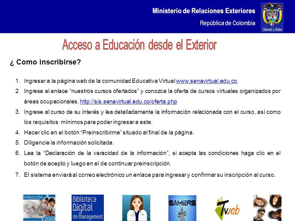 Acceso a Educación desde el Exterior