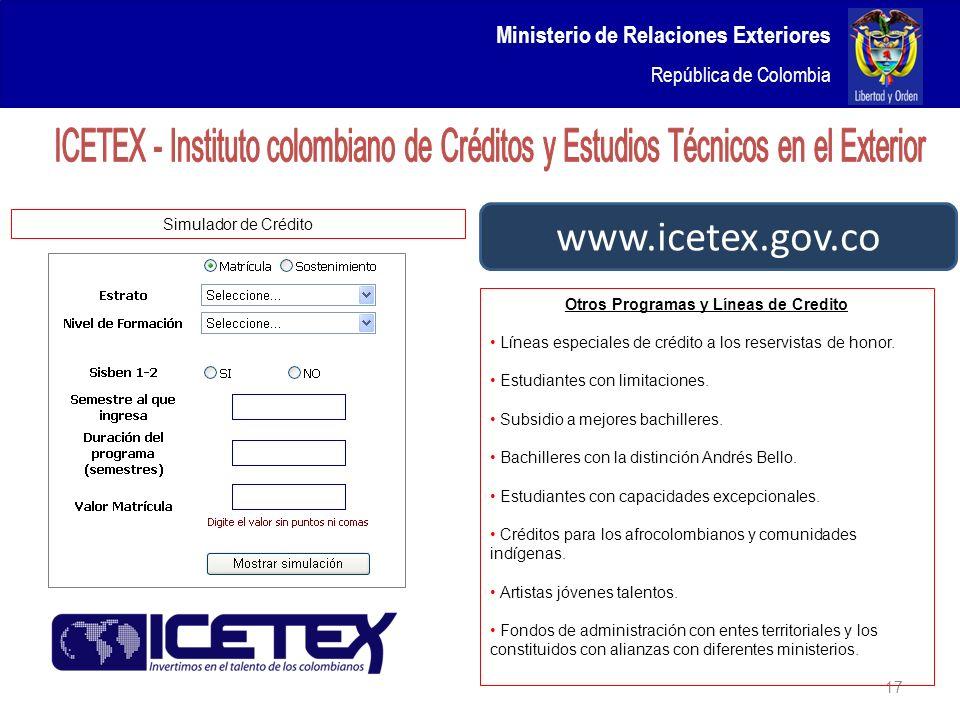 Icetex Creditos Estudios Exterior Creditochromvi