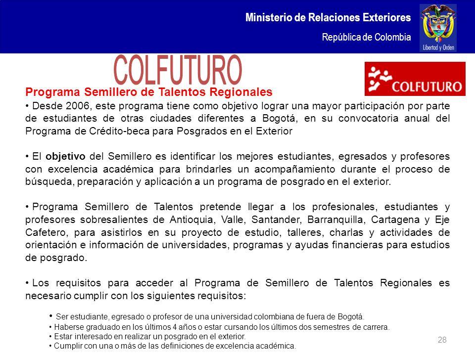 COLFUTURO Ministerio de Relaciones Exteriores