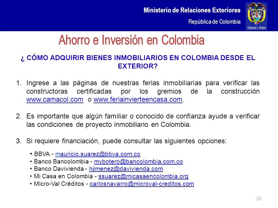 ¿ CÓMO ADQUIRIR BIENES INMOBILIARIOS EN COLOMBIA DESDE EL EXTERIOR