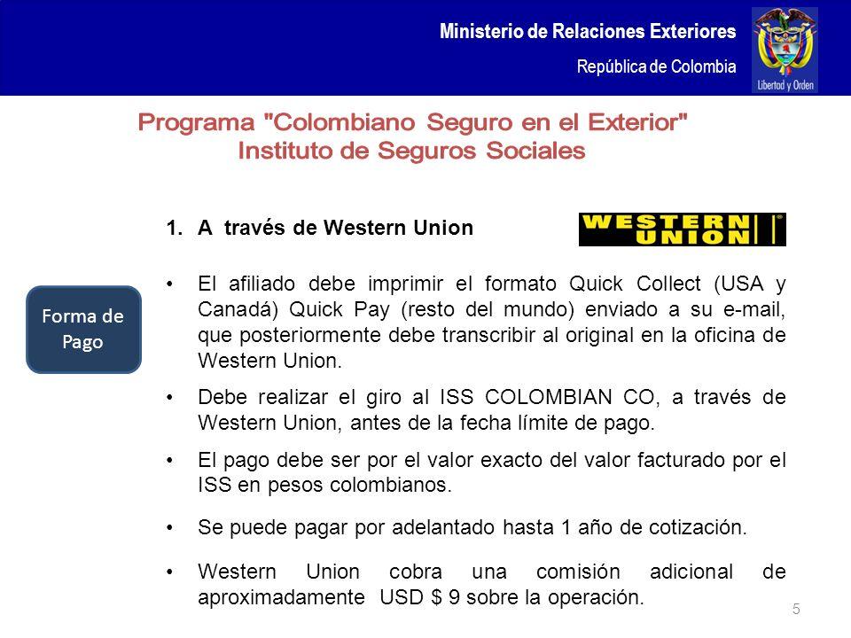 Programa Colombiano Seguro en el Exterior